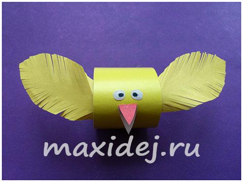 цыпленок из бумаги своими руками для детей