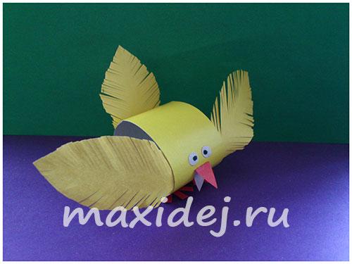 цыпленок из бумаги своими руками