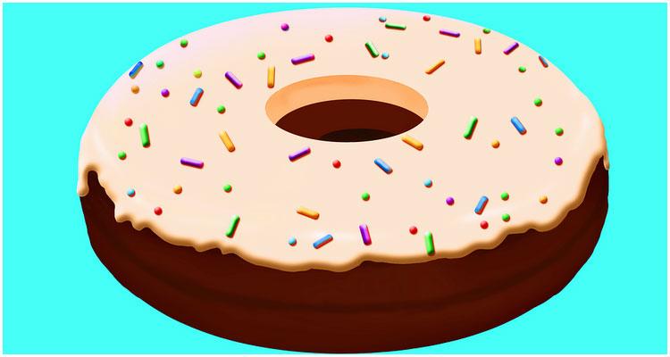 сквиши пончик