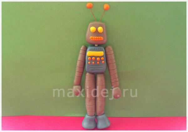 робот изпластилина своими руками