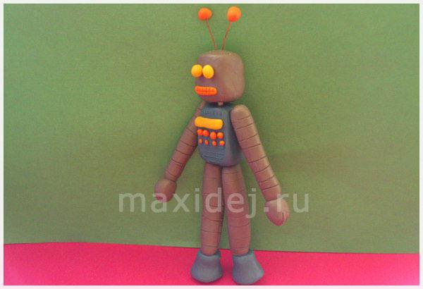 как сделать робота из пластилина