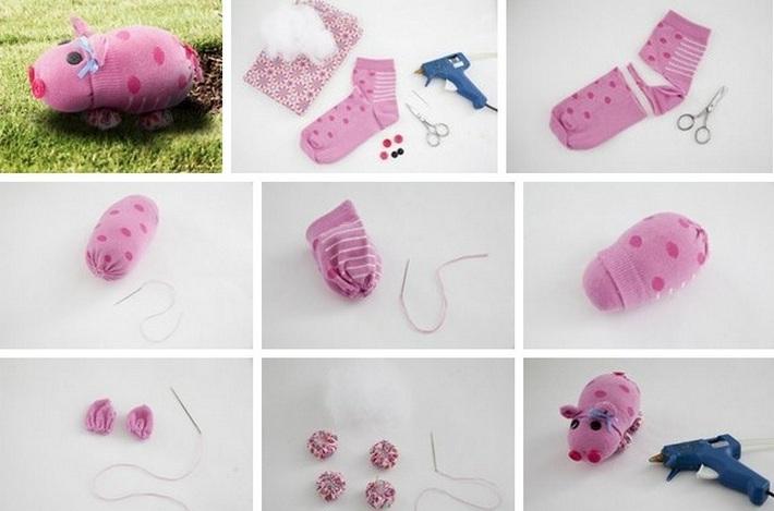 свинка из носков